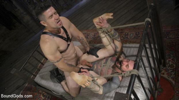 BG – Trenton Ducati, Teddy Bryce – Ripped God Teddy Bryce Fucked and Beaten in Rope Bondage by Hot Stud!