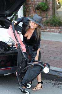 Chrissy Teigen  Mommy Duties On Melrose 2