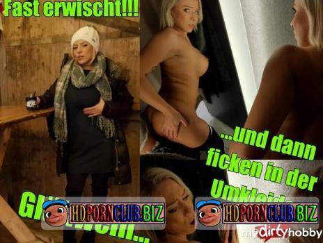 MyDirtyHobby/MDH – LilliVanilli – Fast erwischt – Gluhwein und dann ficken in der Umkleide – Almost caught! Mulled wine and then fuck in the locker room! [FullHD 1080p]