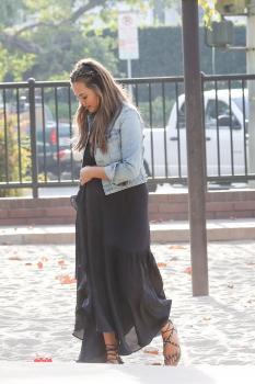 Chrissy Teigen at a park in LA 17